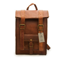 Handmade Men Women Leather Rucksack Backpack - $69.00
