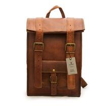 Handmade Men Women Leather Rucksack Backpack - $69.00