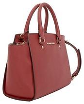 Fashion Michael Kors Selma Leather Satchel Red h787 l1299 w394 30S3GLMS2L - $270.20