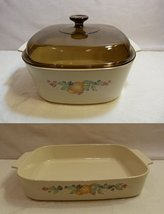 "Vintage Corningware ""Abundance"" Bisque Color 5 Liter Casserole A-5-B and Lasa... - $158.38"