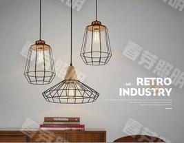 Nordic Geometric Gaged Pendant E27 Light Ceiling Lamp Home Cafe Lighting Fixture - $46.27+