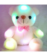 Lovely Teddy Bear Colorful LED Light Stuffed Plush Baby Toy Christmas Gifts - $16.99
