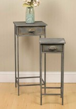 Industrial Metal Bedside Table, End Table, Side Table - Set of 2 - $74.99