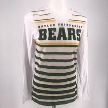 NWT NCAA Baylor Bears V- Neck Striped Long Sleeve T-Shirt with Hoodie - $14.95