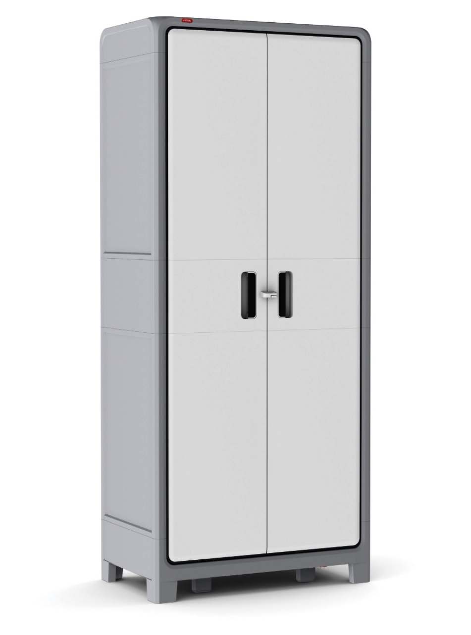 Plastic storage cabinet tall cupboard pantry home garage