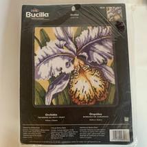 Vintage Bucilla Orchid Needlepoint Kit Barbara Baatz NEW SEALED NON-Smoking Home - $47.95