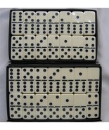 dominoes D6 2 Sets Ivory/Spinner OVERSIZE Free Ship Two D6 Sets Free Shi... - $37.95