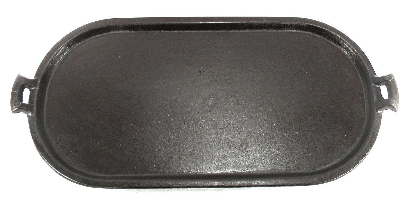 Cast Iron Griddle ~ Antique cast iron grill long pancake griddle camp fire