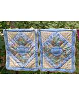 Pillow Shams Vintage Standard Pair Quilted Shab... - $22.00