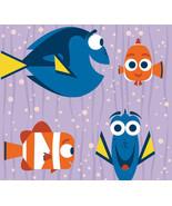 "Disney Finding Dory and Nemo Fleece Throw Blanket Purple 56"" x 68"" Adult... - $129.95"