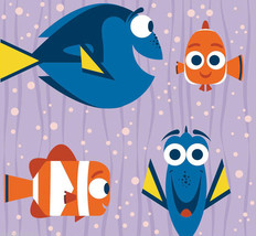 """Disney Finding Dory Nemo Fleece Baby Blanket Pet Lap Security Purple 30""""x 24""""  - $39.95"""