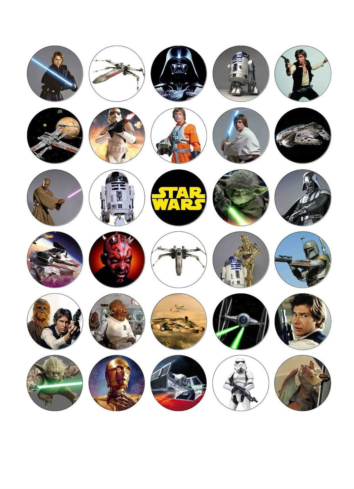 Star Wars Edible Cake Toppers Australia