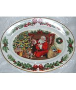 "Franklin Mint ""The Night Before Christmas"" Platter 1989 Christmas Santa ... - $250.00"