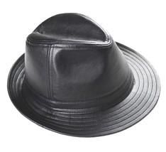 Nouveau100% cuir véritable noir chapeau Topper/monsieur chapeau ,Leather... - ₨1,328.92 INR