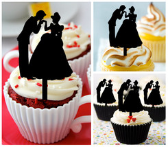 Cp50 cupcake toppers Prince & princess kiss Package : 10 pcs - $10.00