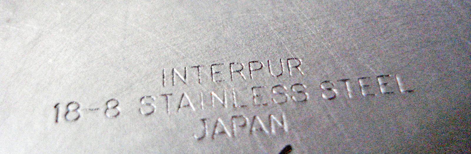 Stainless Steel Wood Handles Gravy Boat Bowl Vintage Interpur Japan
