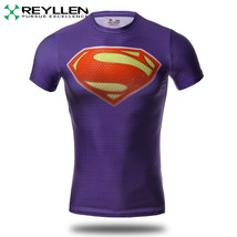 Superman Original Super Héros Compression T-Shirt Chemise Course Cyclism... - $9.31