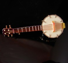 Banjo tietack musician gift music tie tack OLD time music Bluegrass gift Vintage - $125.00