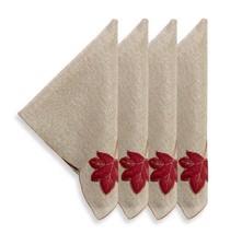 Sam Hedaya Fall Foliage Set Of 4 Napkins - $14.54