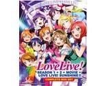 DVD Love Live School Idol Project Season 1-2 Movie + Sunshine Anime English Sub