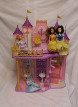 Disney Princess Royal Castle Dollhouse + Princess Dolls + Accessories - $54.42