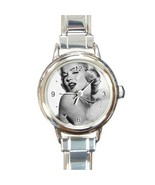 Ladies Round Italian Charm Bracelet Watch Marilyn Monroe Gift model 3495... - $11.99