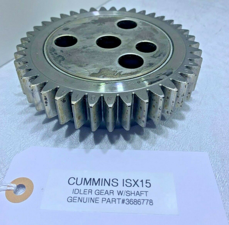 Cummins ISX15 IDLER GEAR 3686778 w/ IDLER SHAFT OEM