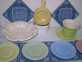 Lot #2700 The Real McCOY POTTERIES 8-Pc. Early Iconic McCoy + Depression... - $39.55