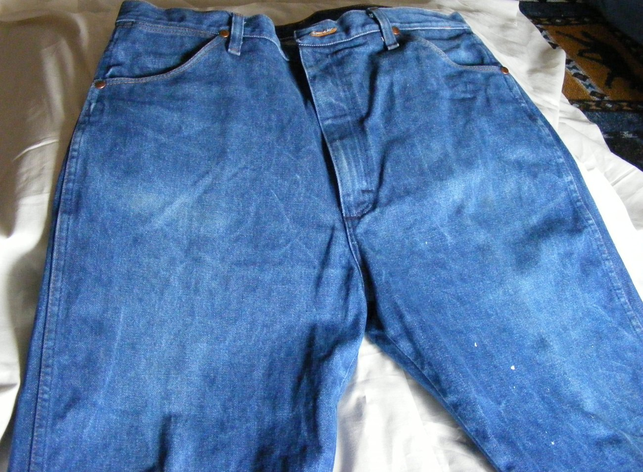 Wrangler Men's Jeans Cowboy Cut 13MWZ 36x36 Rigid Indigo