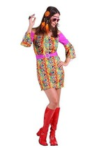 60's Multi Colored Hippy Chick Dress - $25.45
