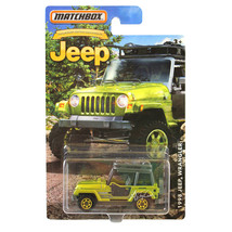 NEW Matchbox Anniversary Edition Green JEEP 1998 Wrangler 1:64 Diecast C... - €12,79 EUR
