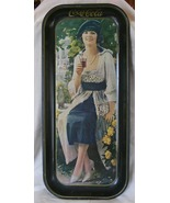 Coca Cola memorabilia tray woman with yellow roses - $15.99