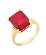 Estate ring 9.35 ct natural ruby solitare set in 14k gold - $620.00