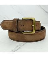 Banana Republic Brown Vintage Genuine Italian Leather Nubuck Belt Size 30 - $24.18