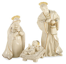 Lenox Innocence Nativity The Holy Family Set/3 Figurines Mary, Joseph & ... - $238.90