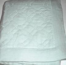 Sferra NICOLA Standard Pillow Sham Silver Sage Italian Linen Octagonal Q... - $800,52 MXN