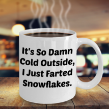 Funny Snowflake Farts 11OZ Mug - Novelty Ceramic Coffee Tea Cup Drink - $14.95