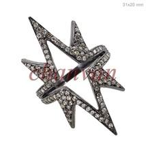 Vintage/Antique Look Rose Cut Diamond 92.5% Silver Unique Pave Fashion Ring - $312.00