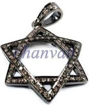 Star Look !!Vintage Inspired 1.20Ct RoseCut Diamond Sterling Silver Pendant @csj - $307.22