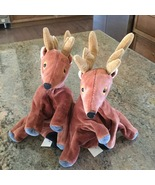 Christmas Reindeer Puppets Two New World Market Rare Set  - $14.99