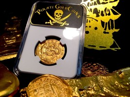 "Spain 1610 Atocha Shpwk Era 2 Escudos ""Philip Iii"" Ngc 63 Gold Cob Doubloon - $4,850.00"