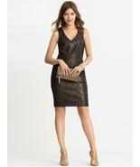 NWT Banana Republic Monogram Bronze Lace Sheath Dress~Size 2 - $74.53