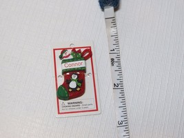 Itsy Bitsy Stocking Ornament name Connor mini Ganz personalized Christma... - $13.85