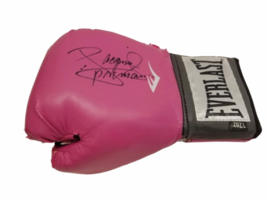 Manny Pacquiao Signed Pink Everlast Boxing Glove Autograph Authentic image 1