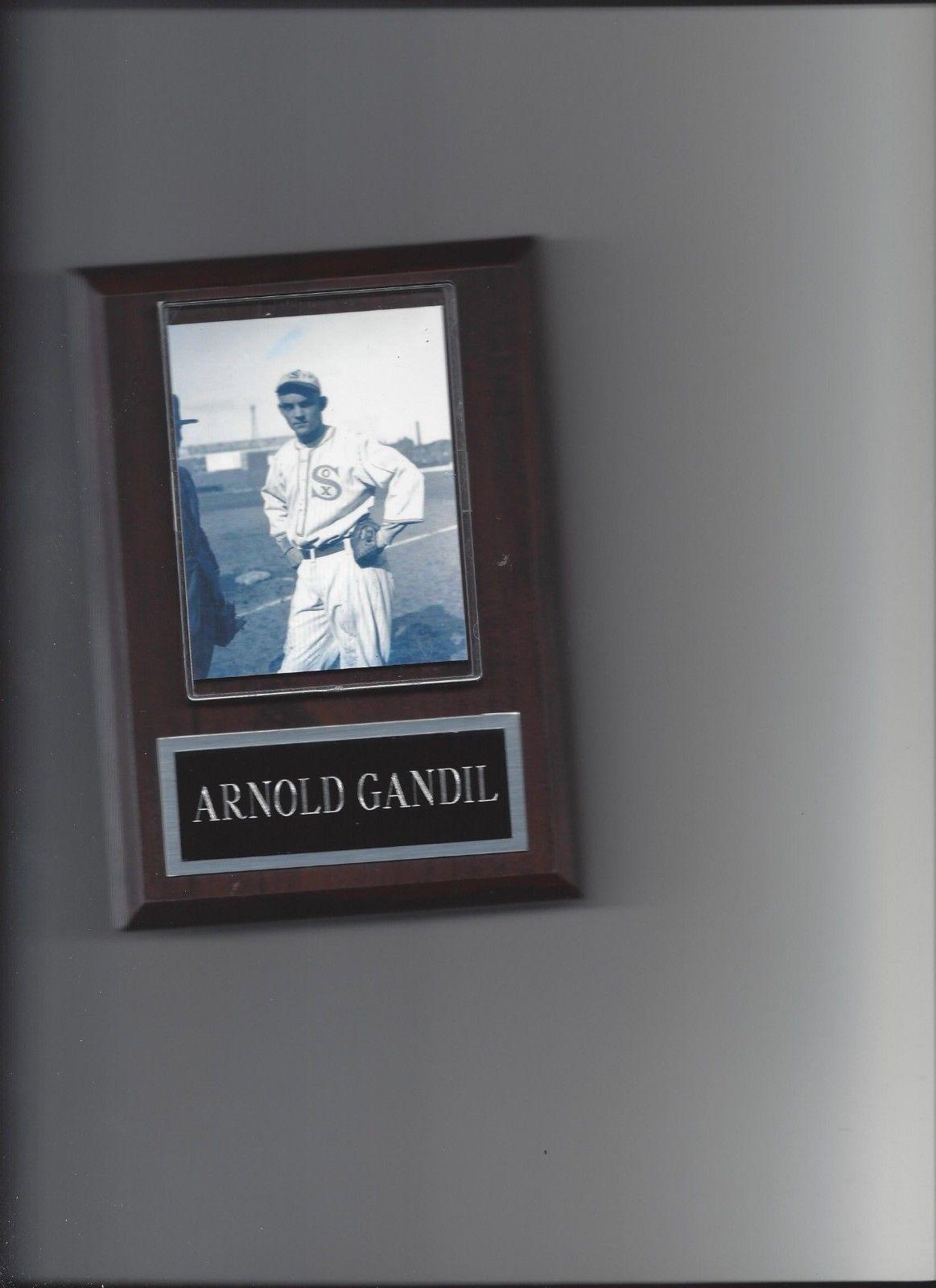 ARNOLD CHICK GANDIL PLAQUE BLACK SOX BASEBALL MLB 1919 CHICAGO WHITE SOX