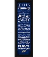 "US Naval Academy - 24 x 8 ""Family Cheer"" Framed Print - $39.95"