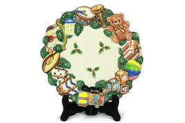 """Fitz and Floyd Holiday Christmas Toyland Canape Dish Plate 8 3/4"""" 2070/1... - $26.72"""