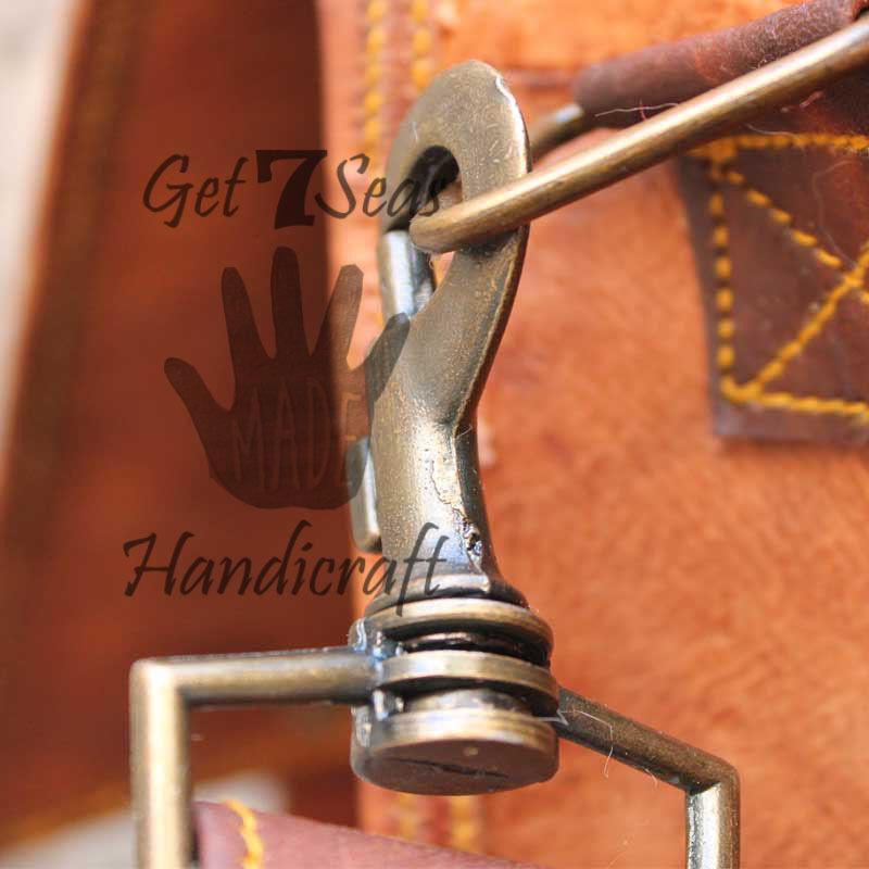 Messenger bag leather men's shoulder laptop women satchel vintage briefcase bags image 4