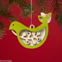 Laser Wood Ornament Flourish  Woodland Birdie Bird