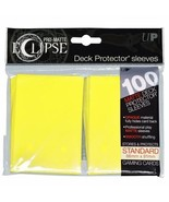 Ultra PRO Matte ECLIPSE Lemon Yellow Deck Protector Sleeves 100ct ULP85608 - $11.75